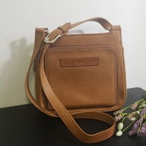 Vintage brown leather fossil purse